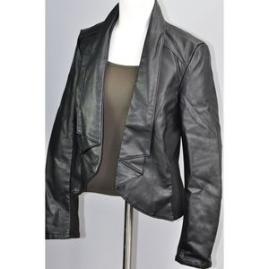 Ricki's Black Faux Leather Blazer Size M.